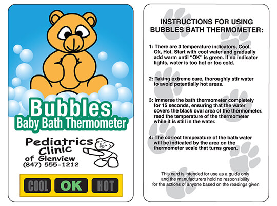 Bubbles Baby Bath Thermometers | Bathtime Safety Product
